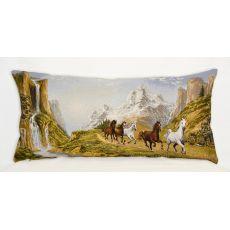 Подушка гобеленовая Вдоль реки 35х70 см, фото 1