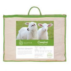 Одеяло облегченное Овечка-комфорт 140х205 см Ecotex, фото 2