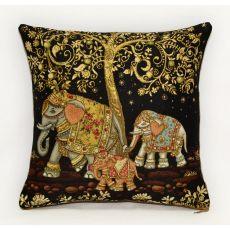 Подушка гобеленовая Индийские слоны 3 35х35 см, фото 1