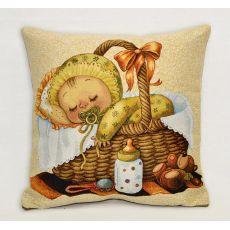 Подушка гобеленовая Мамино счастье спит 35х35 см, фото 1