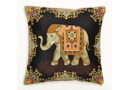 Подушка гобеленовая Индийский слон удача 35х35 см, фото 1